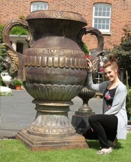 the lord Albert solid cast iron oversized urn