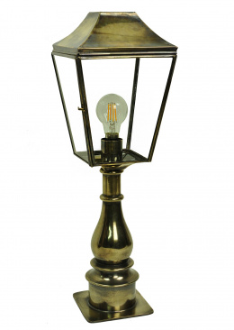 The Montreaux Solid Brass Traditional Pillar Lamp Set