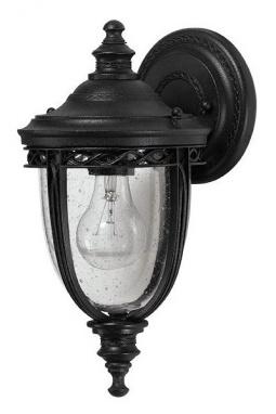 """The Moulton"" Black Top Fix Traditional Wall Lantern"