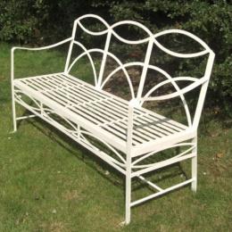 The York 3 Seater Wrought Iron Garden Bench