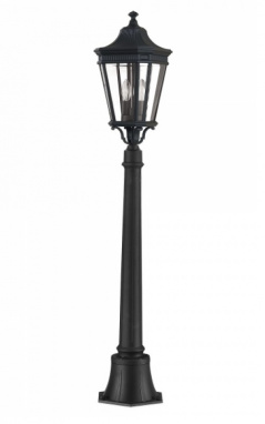 Traditional Black Tall Pillar Lamp For Driveways