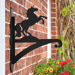 """'Unicorn '"" Dog Garden Hanging Basket Bracket"
