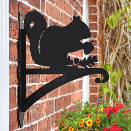 """Cartoon Mouse"" Garden Hanging Basket Bracket Fitted To Brick Wall"