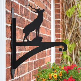 """Stag"" Garden Hanging Basket Bracket On Brick Wall"