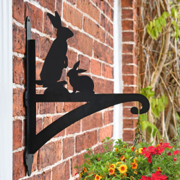 """Bunny Rabbits"" Garden Hanging Basket Bracket"