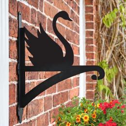 """""""'Swan'"""" Garden Hanging Basket Bracket"""