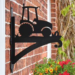 """Tractor"" Garden Hanging Basket Bracket On Brick Wall"
