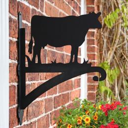 """Cow"" Garden Hanging Basket Bracket On Brick Wall"