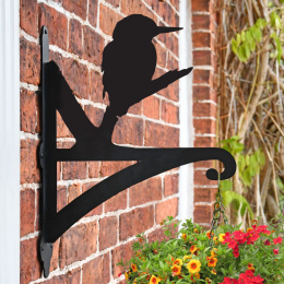 """""""Kingfisher"""" Garden Hanging Basket Bracket On Brick Wall"""
