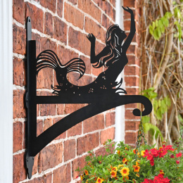 """'Mermaid'"" Garden Hanging Basket Bracket"