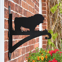 """Bulldog"" Hanging Basket Bracket On Brick Wall"