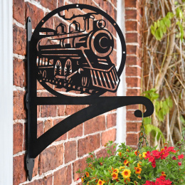 """'Steam Train'"" Garden Hanging Basket Bracket"