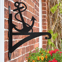 """Anchor"" Garden Hanging Basket Bracket On Brick Wall"