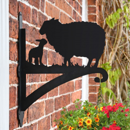 """Sheep and Lamb"" Garden Hanging Basket Bracket"