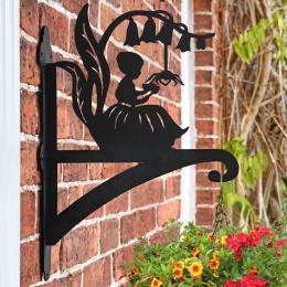 """""""Little Miss Muffet"""" Garden Hanging Basket Bracket On Brick Wall"""