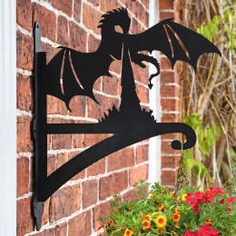 """Basset Hound"" Dog Garden Hanging Basket Bracket On Brick Wall"