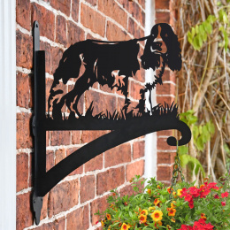 """'English Springer Spaniel'"" Dog Garden Hanging Basket Bracket"