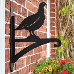 """Grouse"" Garden Hanging Basket Bracket On Brick Wall"