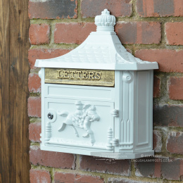 Huntley Post Box In White