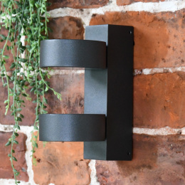 Modern Black  Wall Light With Rotating Fittings