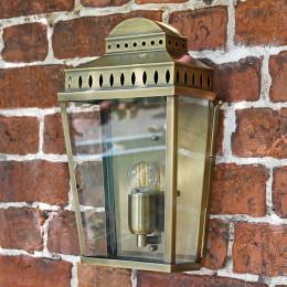 Antique Brass Flush Fitting Wall Lantern