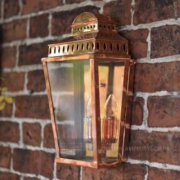 Polished Copper Georgian Manor Simplistic Brass Wall Light