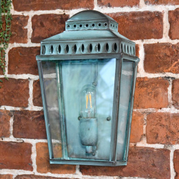 Verdigris Flush Fitting Wall Lantern