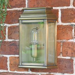 Antique Bronze Small Ornate Wall Lantern