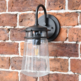 Small Antique Bronze Baroque Style Top Fix Wall Lantern