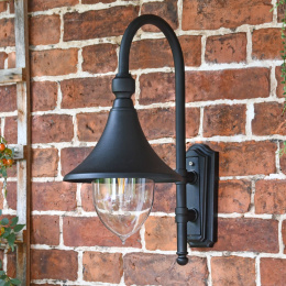 Deluxe Black Coach House Style Wall Light