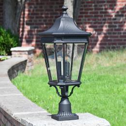 Traditional Black Pedestal Light