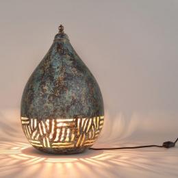 Verdigris Green Distressed Moroccan Desk Lamp