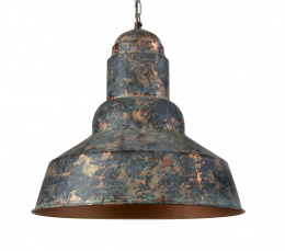 Rustic Verdigris Finish Cylindrical Hanging Ceiling Light