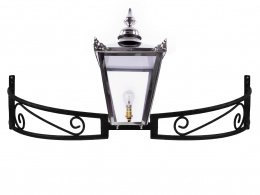 Stainless Steel Victorian Lantern on Bow Bracket