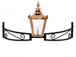 Copper Victorian Lantern on Bow Bracket