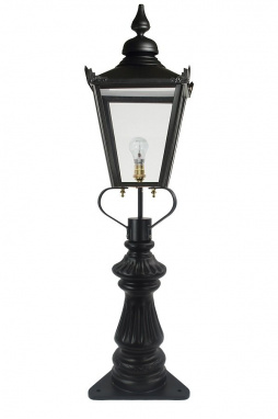 Victorian Low Level Lantern and Ornate Post