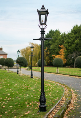 Victorian Medium Lamp Standard On Lawn Edge