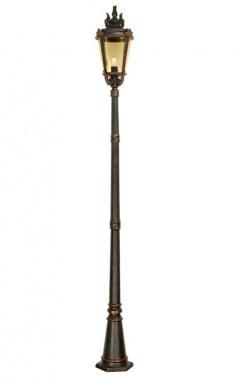 """The """"Millholm"""" Vintage Bronze Gothic Inspired Garden Lamp Post 2.4m"""