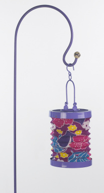 Vivid Purple Outdoor Garden Hanging Lanterns