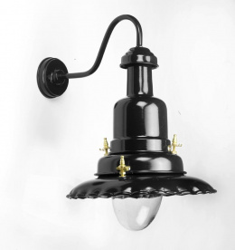 Black pub exterior coach light