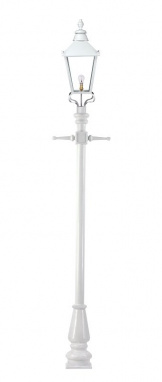 White Contemporary Victorian Lamp Post 2.3m