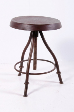 Iron pub stool