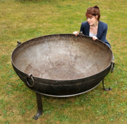 Wrought Iron Kadai Fire Bowls - 116cm To 120cm