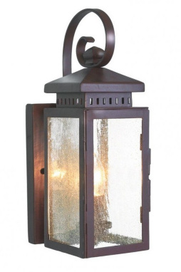 Wrought Iron Wall Lantern with Flush Fitting Wall Bracket