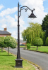 2.5m Antique Brown Ornate Cast Iron Victorian Lamp Post