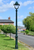 2.5m Verdigris Green Victorian Gothic Cast Iron Lamp Post