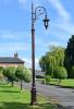 3.1m Antique Copper Gothic Swan Neck Victorian Lamp Post
