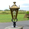 Antique Brass Canterbury Entrance Light - 71cm