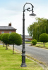 Antique Silver Parisian Inspired Cast Iron Lamp Post