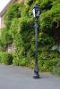 Black Traditional Dorchester Lamp Post 3.25m